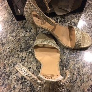 Material Girl Silver Dress Sandals